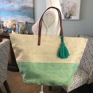 Handbags - Large woven tote bag